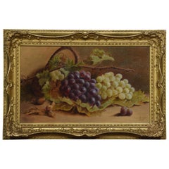 Oil on Canvas T.J. George Still Life of Grapes