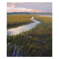 "Oil on Canvas ""Waning Tide"", Mary Segars, 21st Century"