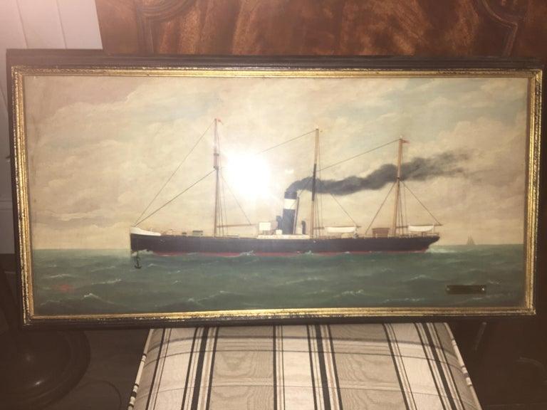 Oil on Canvas, Wilhem Karl Arnesen British Battle Ships For Sale 2