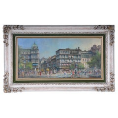 Oil on Copper Berlin Kranzler-Eck, Signed Heinz Scholtz, 1925