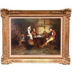 Oil on Panel by Charles Martin Hardie RSA (1858-1916) Interior Scene