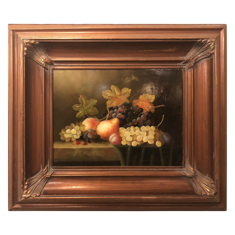 Oil on Panel Still Life Fruit Painting