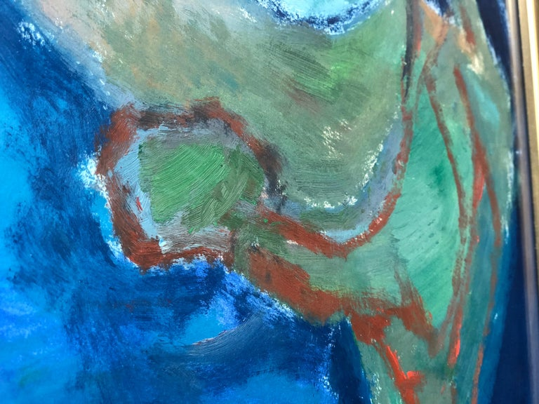 American Oil on Paper Painting by Doris Rudoff For Sale