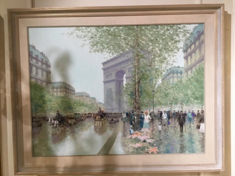 American Oil Painting by Andre Gisson of the Arc de Triomphe, 1928-2003 For Sale