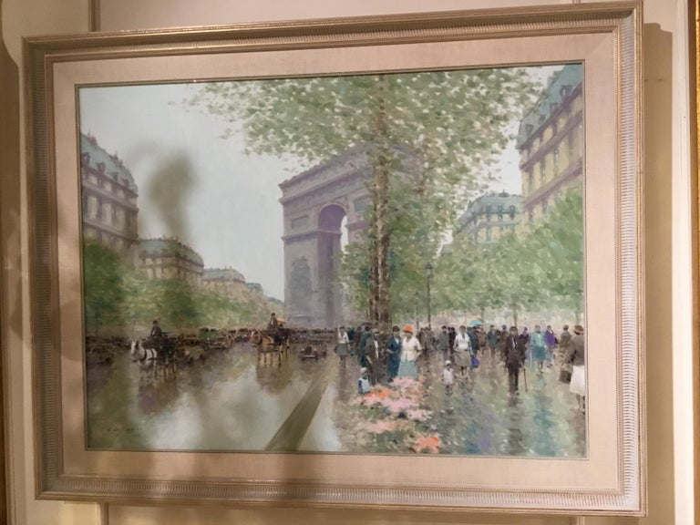 Oil Painting by Andre Gisson of the Arc de Triomphe, 1928-2003 For Sale 1