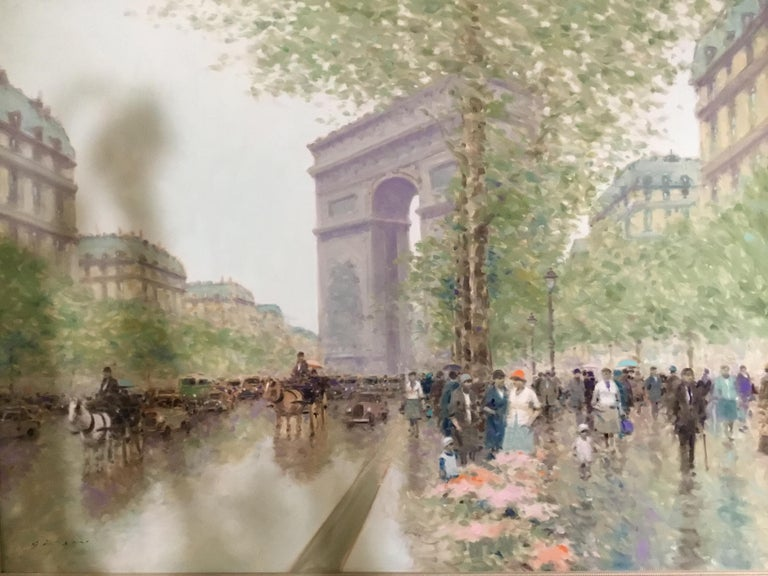 Oil Painting by Andre Gisson of the Arc de Triomphe, 1928-2003 For Sale 2