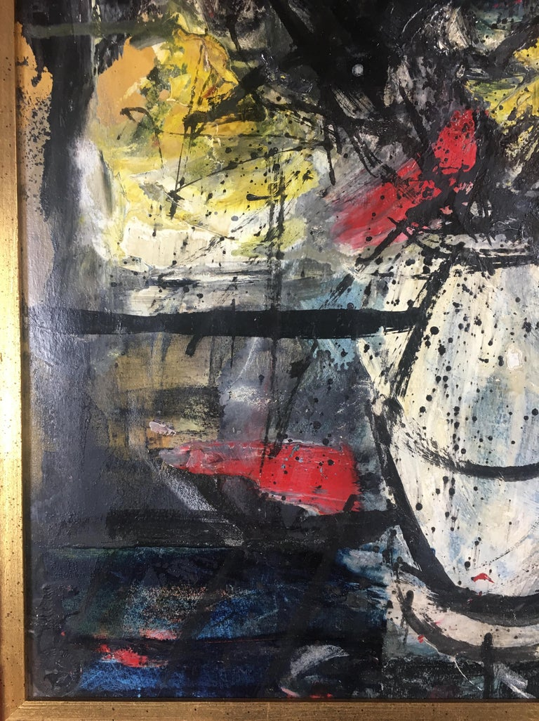 Charles Levier Oil on Board Still Life Painting For Sale 2