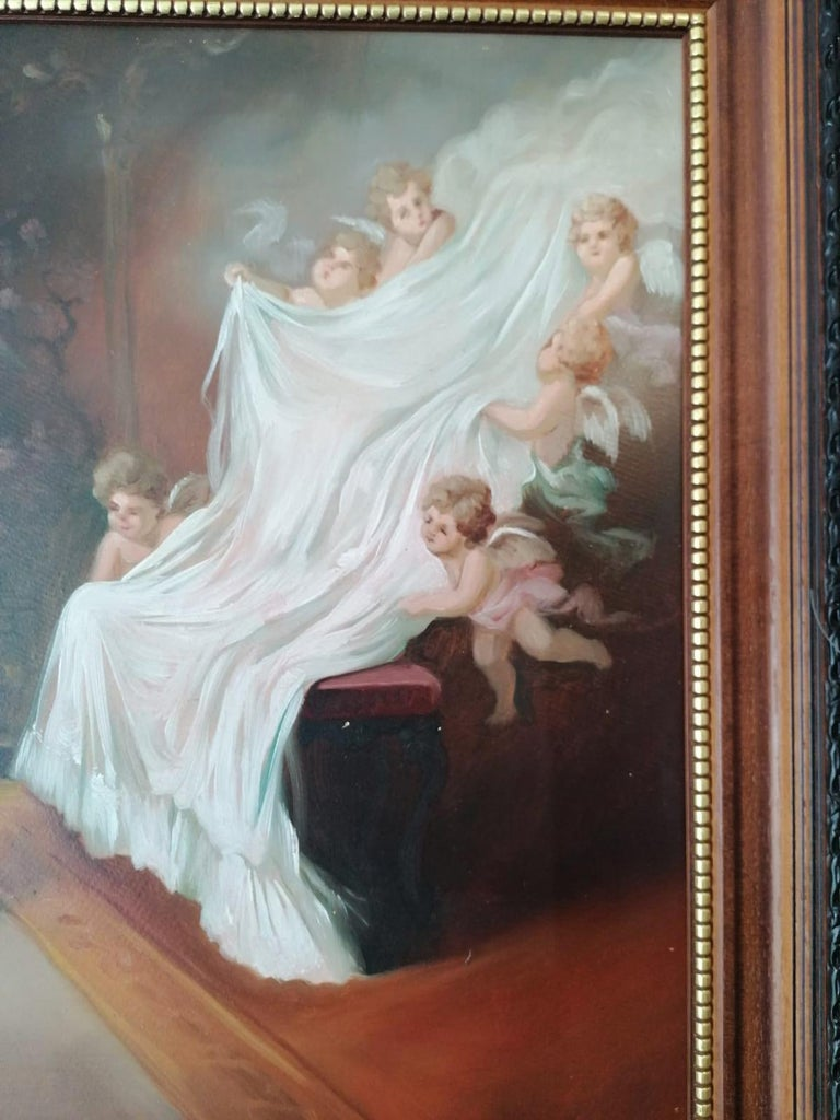 Oil Painting by Emil Fiala Sleeping Beauty For Sale 7