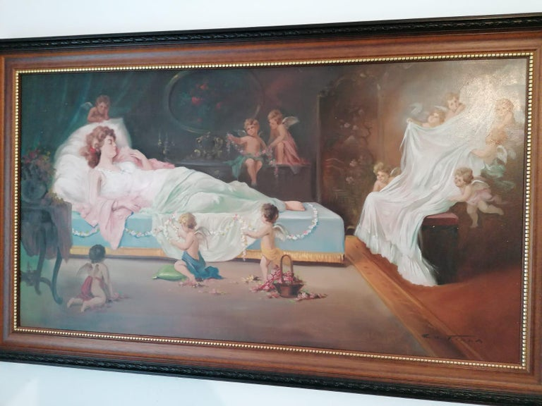 Oil painting by Emil Fiala (signed Em. Fiala (1882-1953))