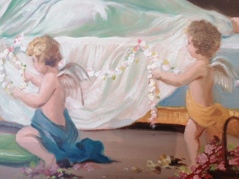 Oil Painting by Emil Fiala Sleeping Beauty For Sale 2