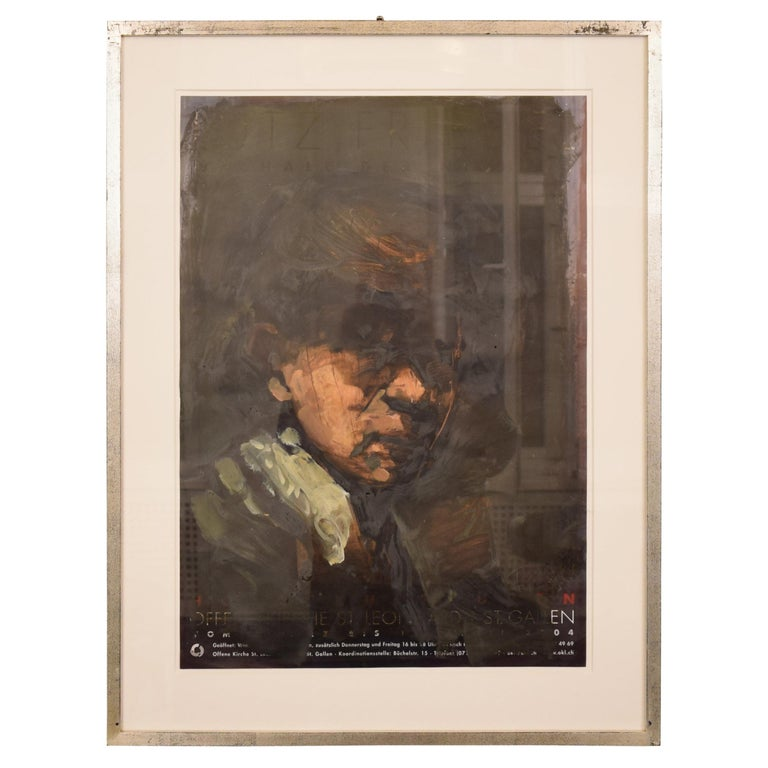 """Oil Painting by Lutz Friedel """"Even as a Young Rembrandt""""  from 2008 For Sale"""