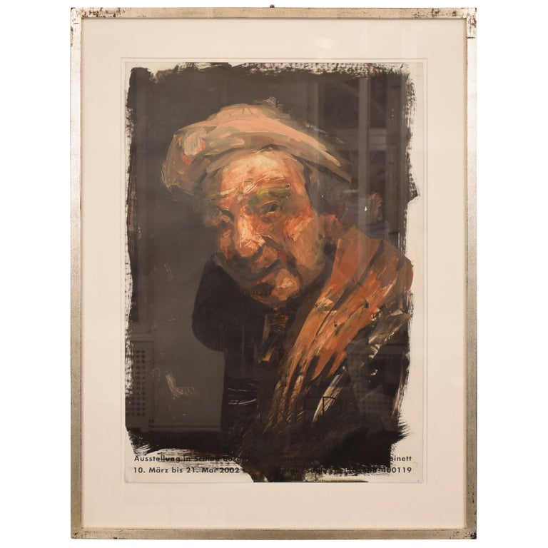 """Oil Painting by Lutz Friedel """"Selbstals Rembrandt"""" from 2008 For Sale"""