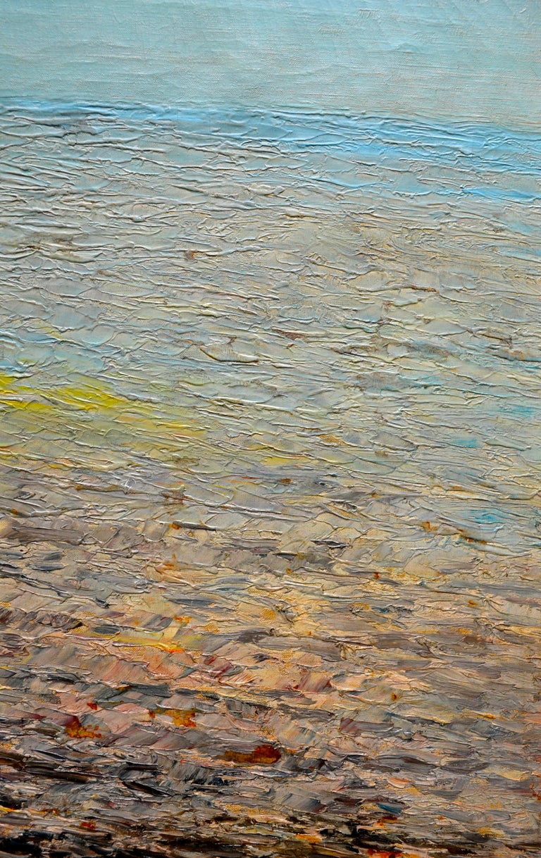 20th Century Oil Painting of the Capri Coastline by Matteo Sarno For Sale