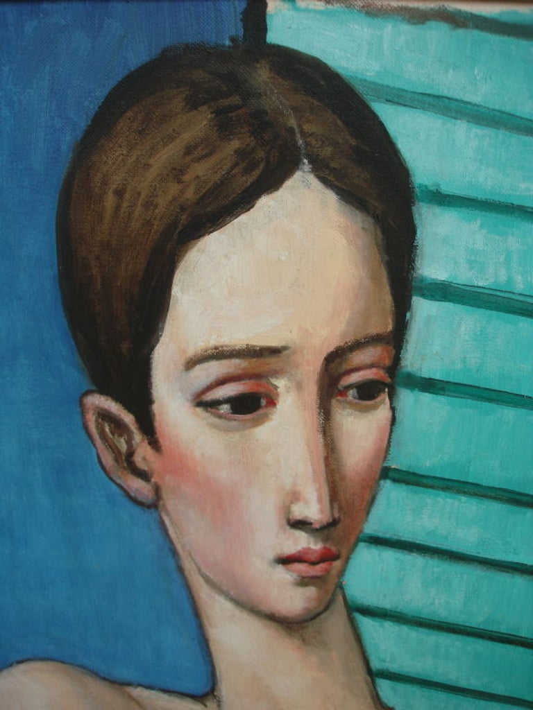 Oil Painting by Sabatino Abate In Excellent Condition For Sale In Essex, MA