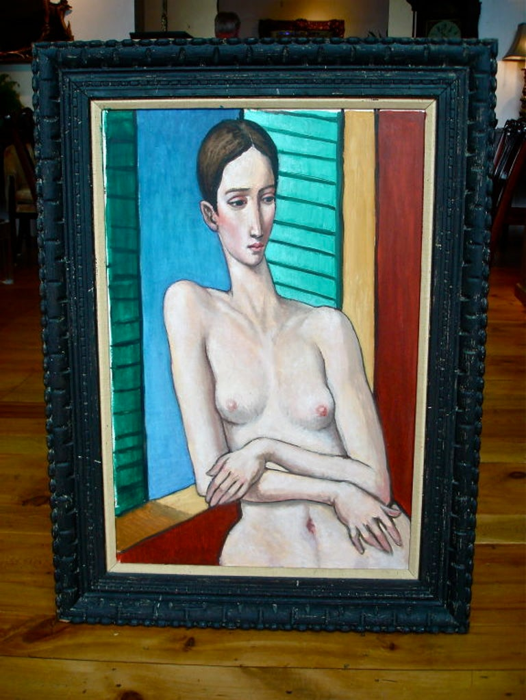 Canvas Oil Painting by Sabatino Abate For Sale