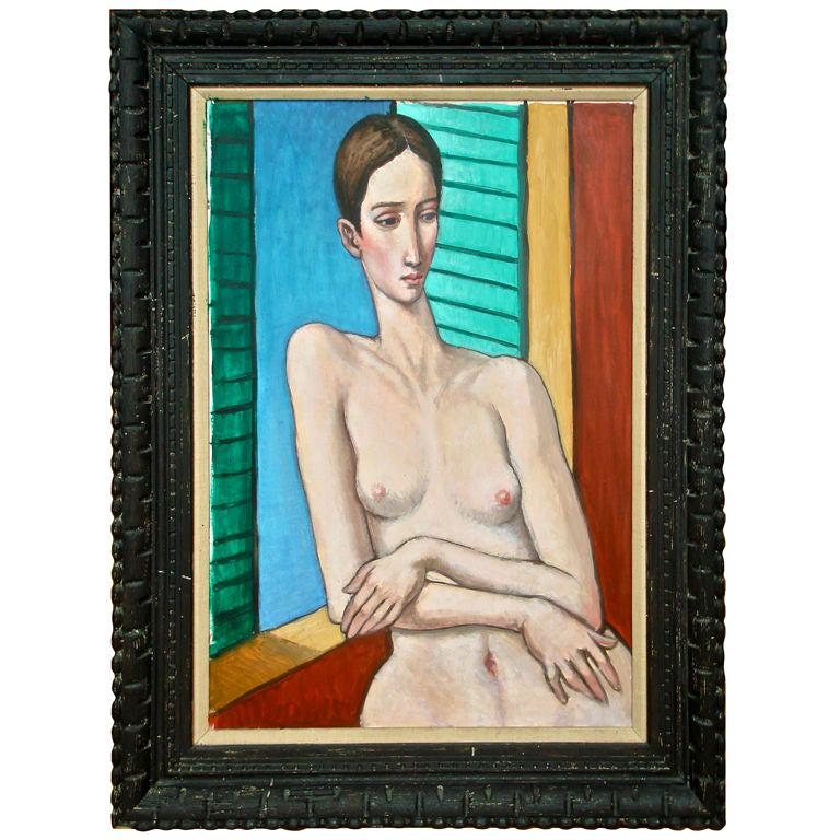 Oil Painting by Sabatino Abate For Sale