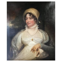 Oil Painting Depiction of Elizabeth Savage circa 1850 English