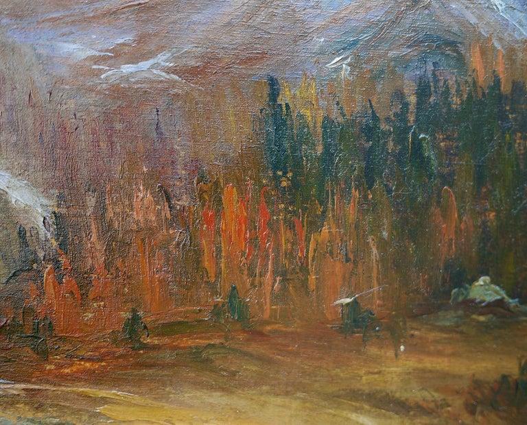 Oil Painting, Dolomites,
