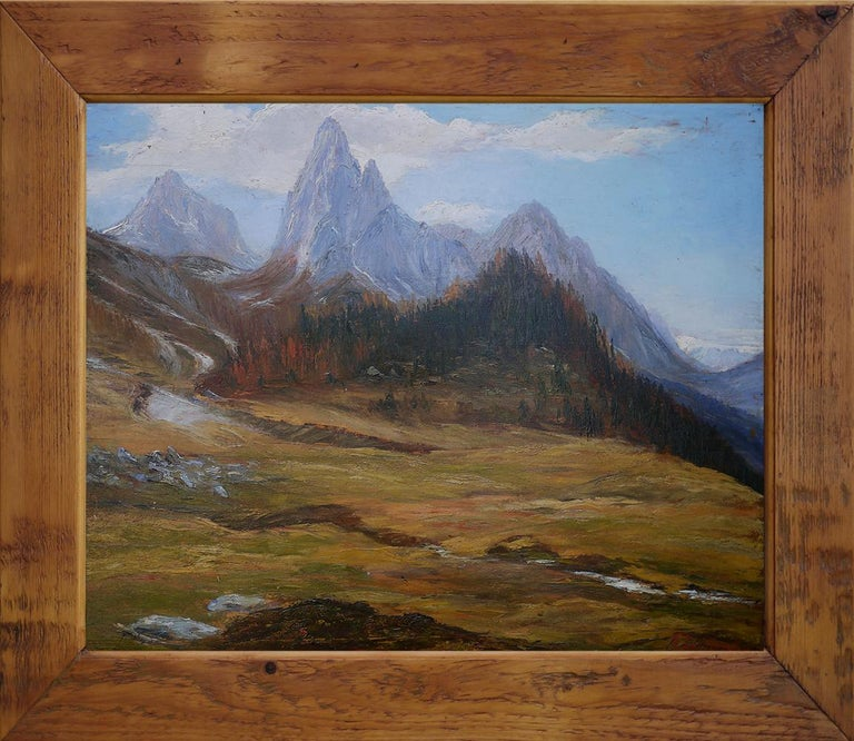 Italian Oil Painting, Dolomites,