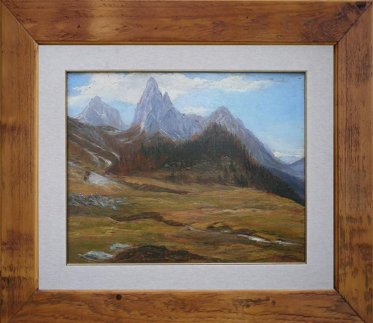Oiled Oil Painting, Dolomites,
