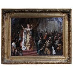 Oil Painting Empress Maria Theresa in Hungary, circa 1860