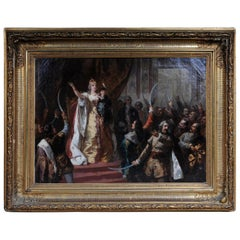 Oil Painting Empress Maria Theresa in Hungary, circa 1860