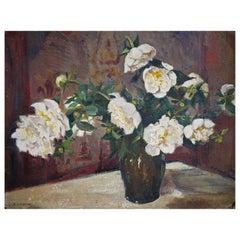 Oil Painting, Field Roses, Elsa Sturm-Lindner