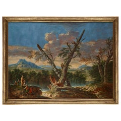 Oil Painting, Italy, 18th Century, Workshop of Andrea Locatelli