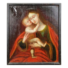 Oil Painting Miraculous Image of Insbruck Maria with Child After Cranach