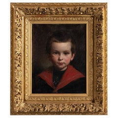 Oil Painting of a Little Boy