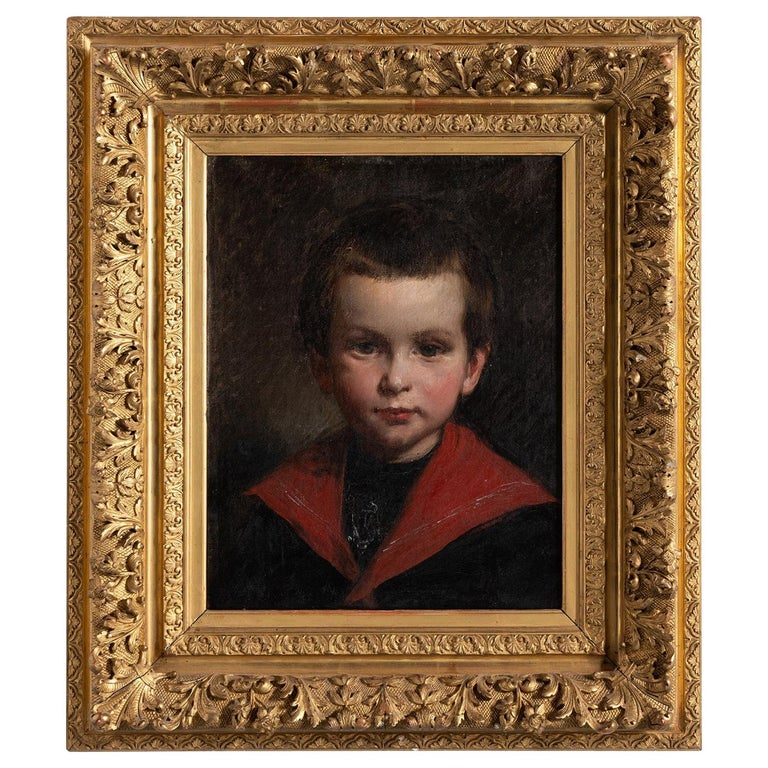 Oil Painting of a Little Boy For Sale