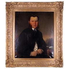 Oil Painting of a Victorian Gentleman in a Gilt Frame