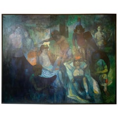Oil Painting of Children Celebrate Purim by Ted Gilien
