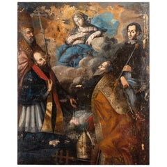 Oil Painting of Madonna with Devil in Chairs, Italy, 18th Century