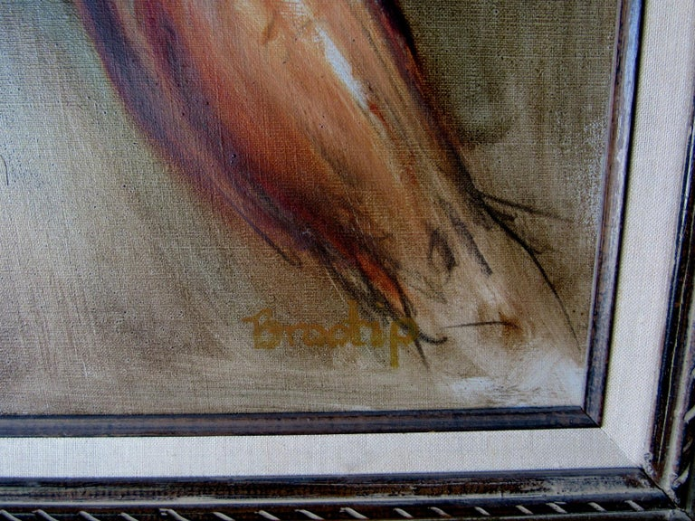 American Male Nude Oil Painting by California Artist Bill Brootip 1970s For Sale