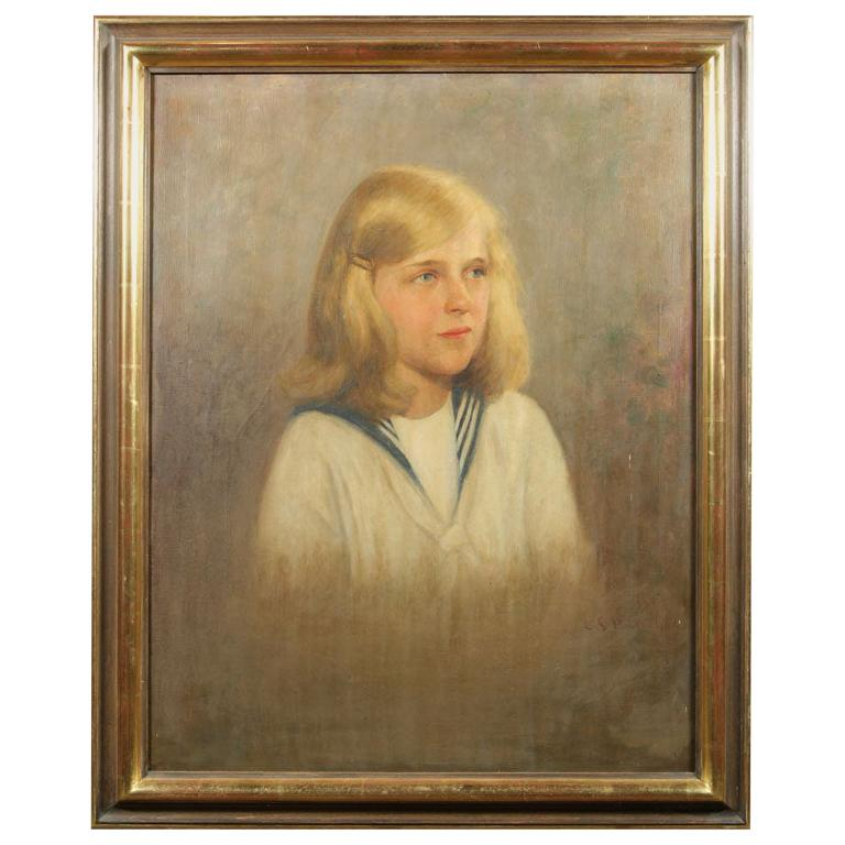 Oil Painting of Young Girl For Sale