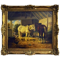 Oil Painting, Old Friends by Henry Brittan Willis