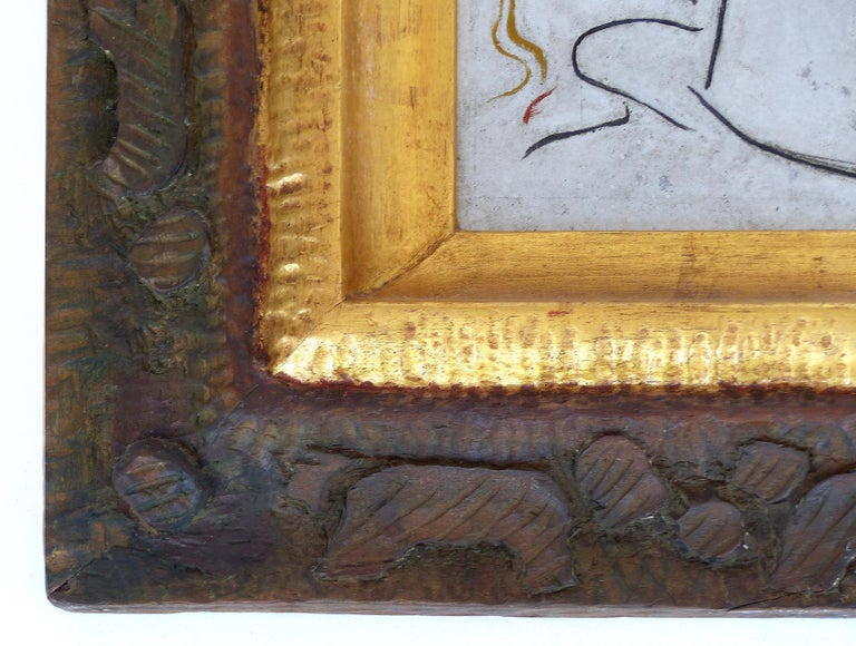 Puerto Rican Angel Botello Abstract Oil Painting on Board, Latin Artist For Sale