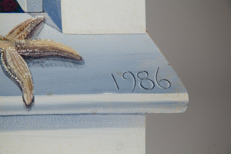 American Oil Painting on Board Peter Pan 1986 by Margot Datz, Marthas Vineyard Artist For Sale