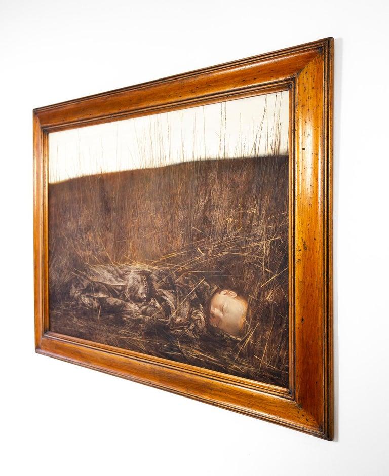 Custom framed oil on canvas by Russian painter Igor Melnikov titled