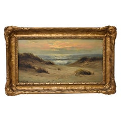 Oil Painting On Canvas N. Hagerup Seascape and Dunes 1864-1922