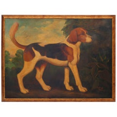 Oil Painting on Canvas of a Beagle by Reginald Baxter
