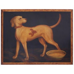 Oil Painting on Canvas of a Dog by Reginald Baxter