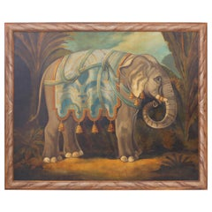 Oil Painting on Canvas of an Elephant by William Skilling