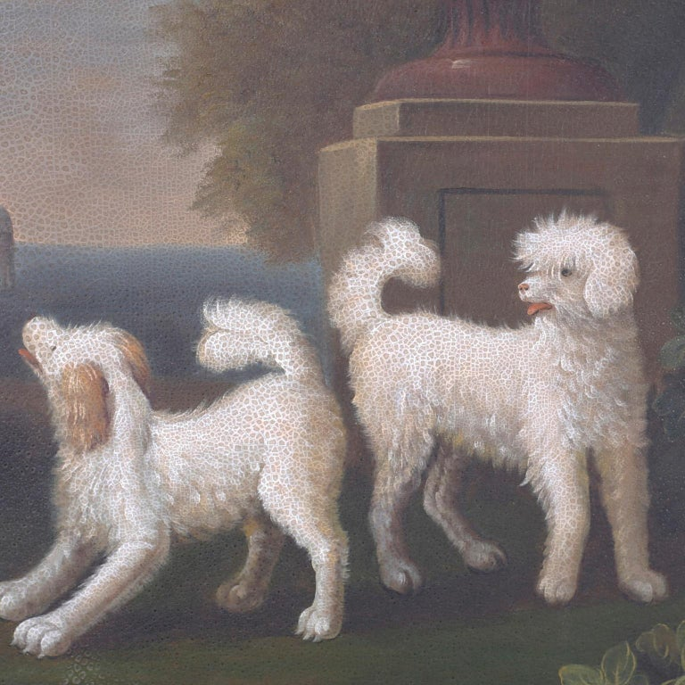 Oil Painting on Canvas of Four Dogs For Sale 1
