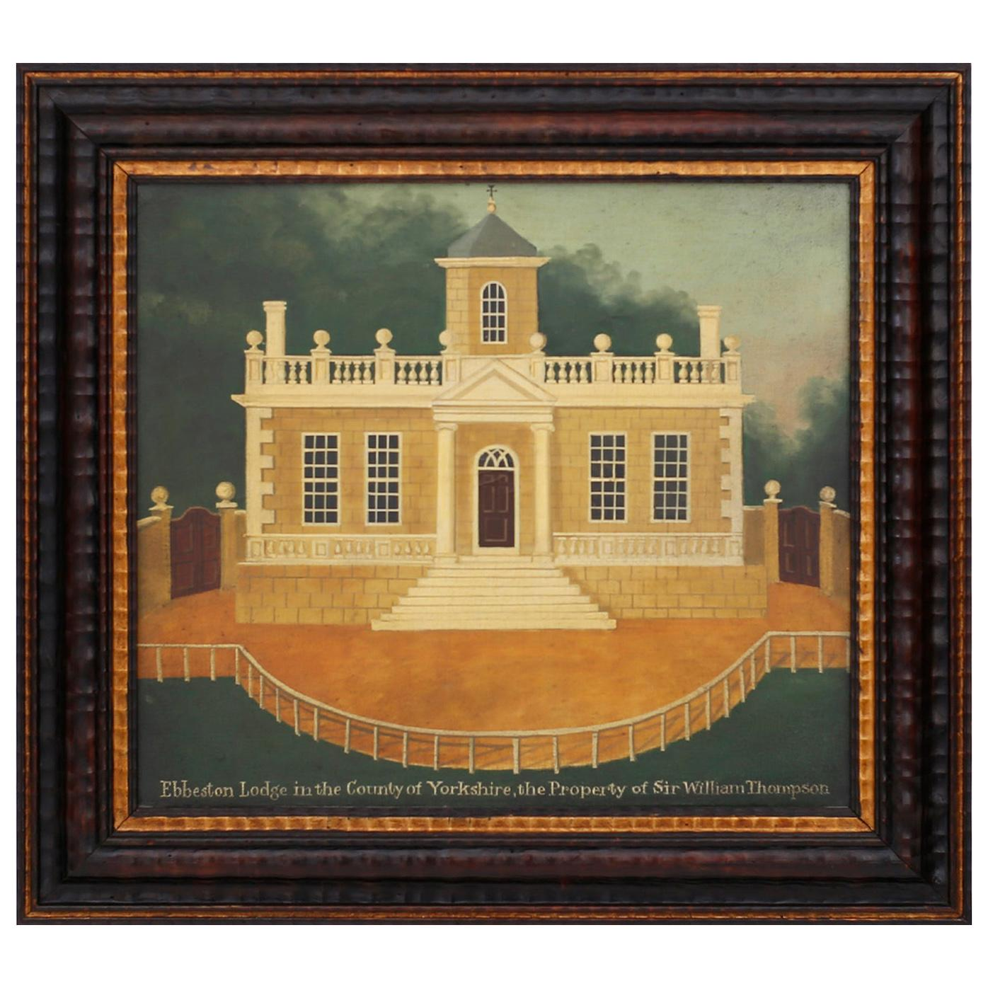 Oil Painting on Canvas of the Ebbeston Lodge