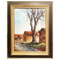 Oil Painting on Canvas, Saussay, France, 1975