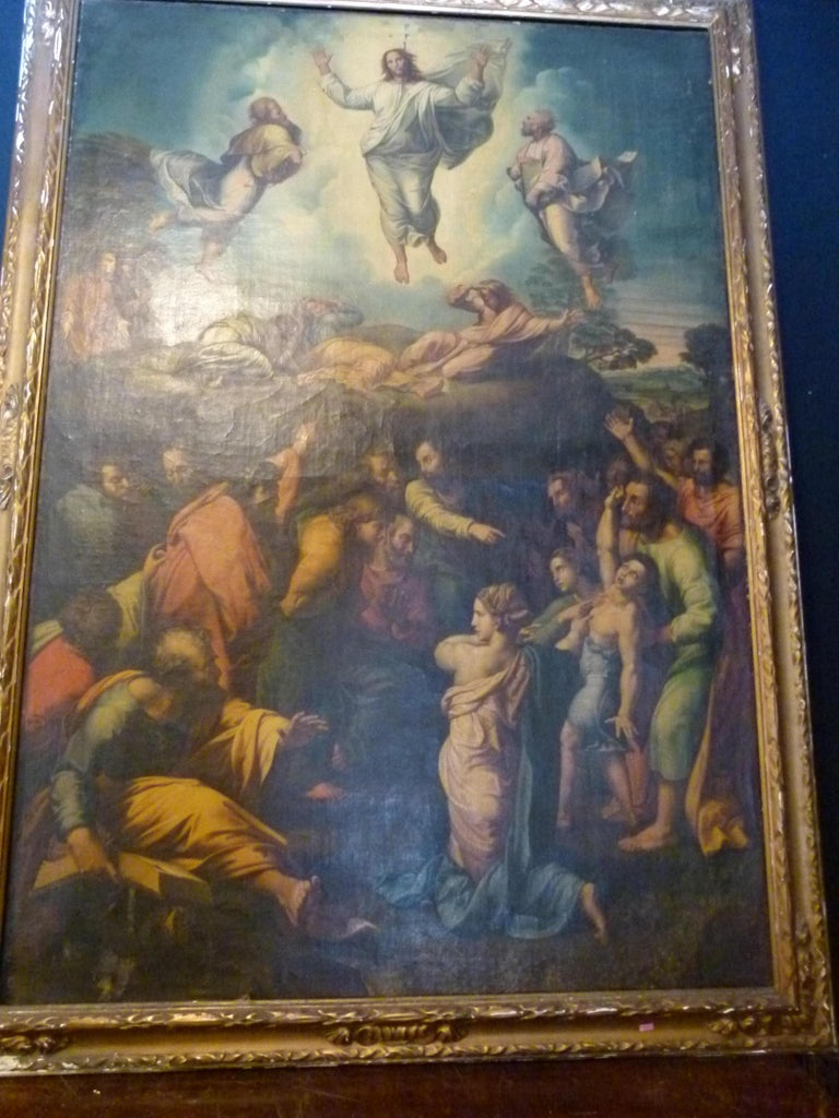 Renaissance The Transfiguration by Raphael. Oil painting Reproduction. For Sale