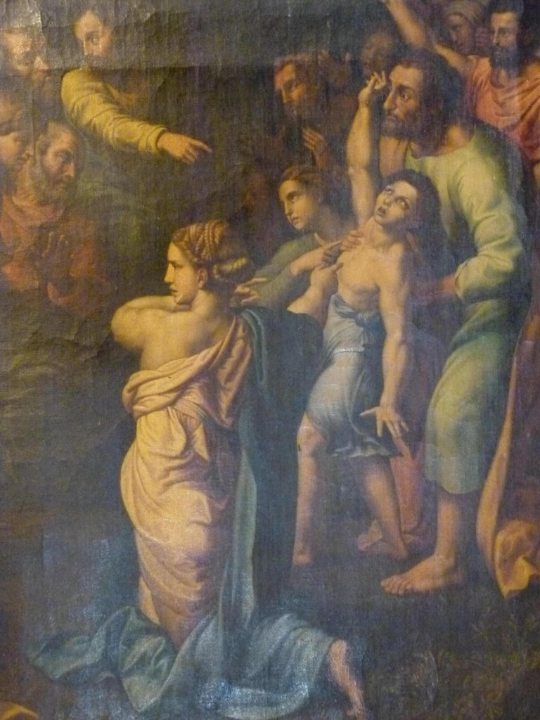 Hand-Painted The Transfiguration by Raphael. Oil painting Reproduction. For Sale