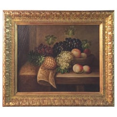 Oil Paintings in the Style of the 19th Century Fruits with Frame